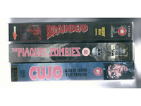 3 Classic Horror VHS Videos / Very good condition