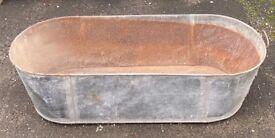 Large Vintage Galvanised Tin Bath COLLECTION ASAP