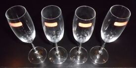 4 Spiegelau 'Festival' Champagne Flutes (new)