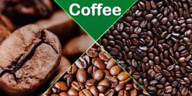 coffees are available in 250g bags which cost from £6.95 each
