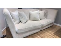 4 seater and 3 seater couch in cream.