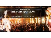 1x TICKET: Party like Gatsby Edinburgh - The Mad Mansion