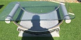 Large glass top coffee table bargain £25