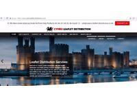 Leaflet Distribution Website For Sale - Wales