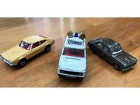 Job lot three toy cars. Corgi -police Range Rover, Dinky - Ford Escort Mk1 & Matchbox Ford Capri Mk2