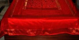 Hand made Indian silk bedspread