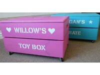 Toy Box *Handmade *Personalised