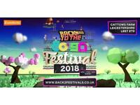Back to 80's festival entry and camping tickets