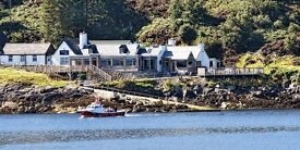 Dynamic, award winning team on the NW Highland coast recruiting FOH/bar position. Live in /out.