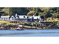 Dynamic, award winning team on the NW Highland coast recruiting FOH/ chef positions. Live in /out.