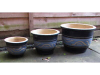 Garden Pots, Set of 3