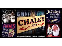 Chalkboard artist - sign writer - illustrator