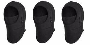 NEW LOT (3) FLEECE WINDPROOF SKI MASK BALACLAVAS HAT
