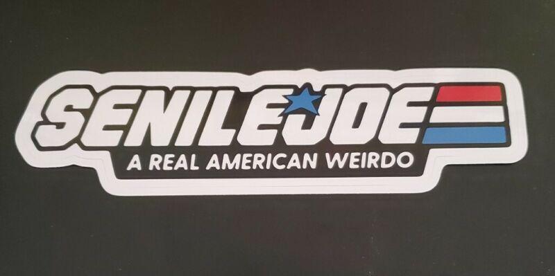 Senile Joe Biden Bumper Sticker G.I. Joe Parody Biden Harris 2020 FRAUD