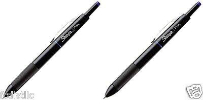 2 Sharpie Porous Retractable Permanent Water Resistant Pens Fine Point Blue