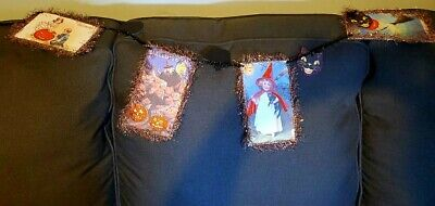 Halloween Pumpkin, Witch, Black Cat Garland For Your Office,Porch or Home Decor