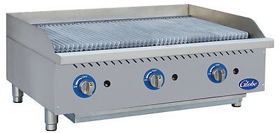 Globe Gcb36g-sr 36 Counter-top Natural Gas Char-broiler - Radiant