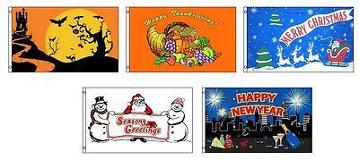 3x5 Saisonal Urlaub 5 Flagge Garnitur Großhandel Set 0.9mx5 'Halloween Tday (Urlaub Dekorationen Großhandel)