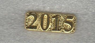 Senior Class of 2015 Letterman Jacket Pin gold tone