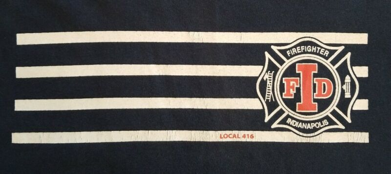 IFD Indianapolis Fire Department Indiana IAFF Local 416 T- Shirt Sz M New FDNY