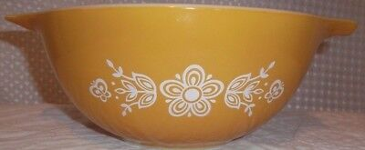 Made in the USA Vintage Pyrex Butterfly Gold 1-1/2 qt 442 Nesting Mixing Bowl