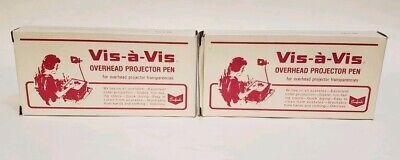 Vintage Sanford Vis-a-vis Overhead Projector Pen Green 22 Pens Fine Point