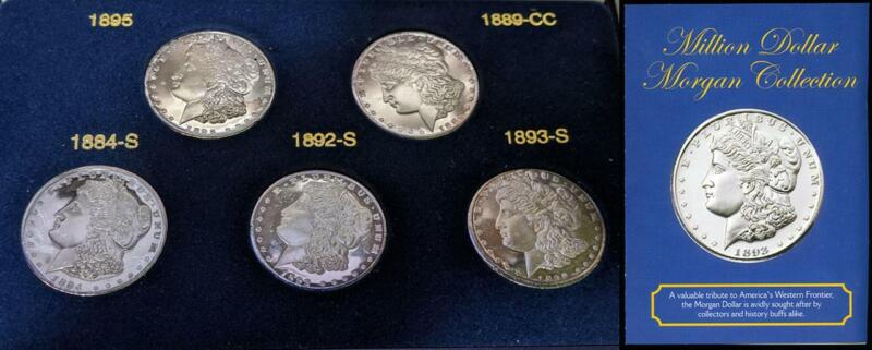 Million Dollar Morgan Collection 5 Silver Clad Fantasy Issues of the Key Dates