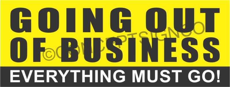 1.5'X4'  GOING OUT OF BUSINESS BANNER Outdoor Sign Everything Must Go