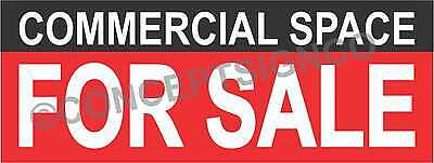 1.5x4 Commercial Space For Sale Banner Outdoor Sign Real Estate Property
