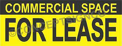 3x8 Commercial Space For Lease Banner Outdoor Sign Large Real Estate Property
