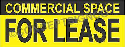 1.5x4 Commercial Space For Lease Banner Outdoor Sign Real Estate Property