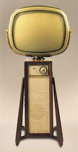 Télévision de 1960 Predicta Continental Danois Moderne