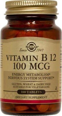 Solgar B-12 Vitamins (Vitamin B-12 100mcg Solgar 100 Tabs )