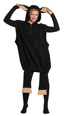 Schwarzes Schaf Unisex Schafkostüm Lamm Schaftunika Kostüm Tierkostüm