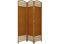 2 x Wicker Room Divider Screens