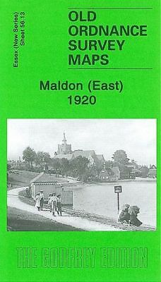 OLD ORDNANCE SURVEY MAP MALDON EAST 1920
