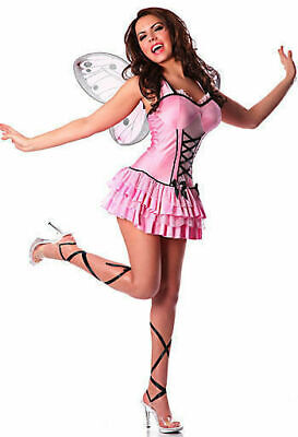 Rubies 19102 Adult Pink Butterfly Fairy Pixie Costume USA NEW Halloween Cosplay