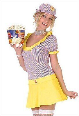 Sexy Pop Popcorn Girl Small Costume Seven til Midnight  (Popcorn Costume Halloween)