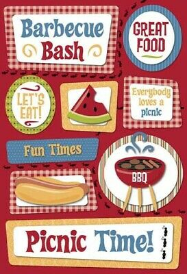 Scrapbooking Crafts KF Stickers Picnic BBQ Bash Hot Dog Watermelon Fun Times - Dog Craft