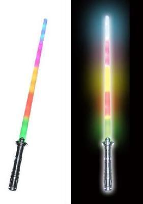 NEW RAINBOW LED LIGHT SABER SWORD boy toy bright swords LN174 novelty lightup - Light Saber Swords