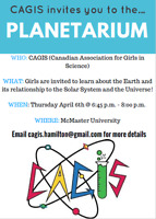 Science event for girls at McMaster University!