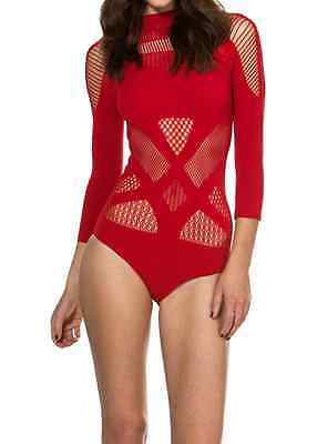 Black Milk A-SASSY-NATION RED BODYSUIT SOLD OUT - NOT AVAILABLE - Sassy Bodysuit