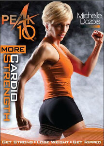 PEAK 10 MORE CARDIO STRENGTH DVD MICHELLE DOZOIS WORKOUT ADVANCED EXERCISE NEW