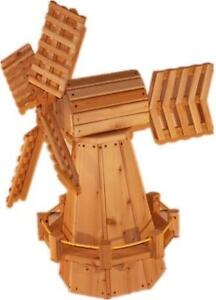 Amish Made Weather Resistant Cedar Garden Windmill Kit - FREE SHIPPING