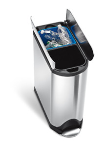 Simple Human Dual Garbage Can - In box, brand new - $200. no tax