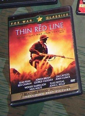 THIN RED LINE Sean Penn Jim Caviezel Clooney WWII Pacific Japanese war movie dvd