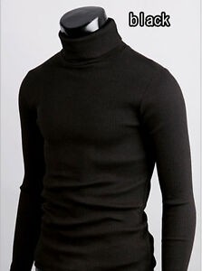 d1 mens thermal cotton turtle polo neck skivvy turtleneck sweater stretch shirts