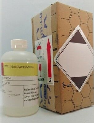 Sodium Silicate Solution 40 16 Oz Hdpe Plastic Bottle