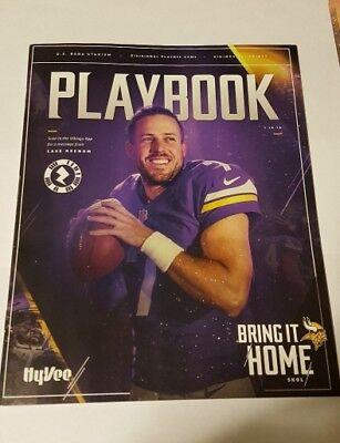 Minnesota Vikings game program 2018 Saints  MINT Keenum Divisional NFC playoff