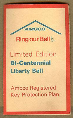 1976 AMOCO OIL, Bi-Centennial Liberty Bell, Registered Brass KEY CHAIN